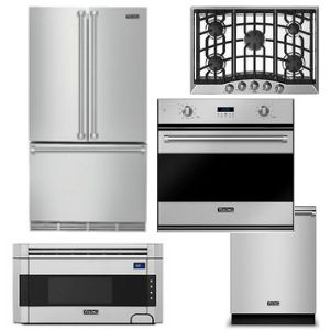 Package V5 Viking Liance 5 Piece Luxury Built In Stainless Steel Gas
