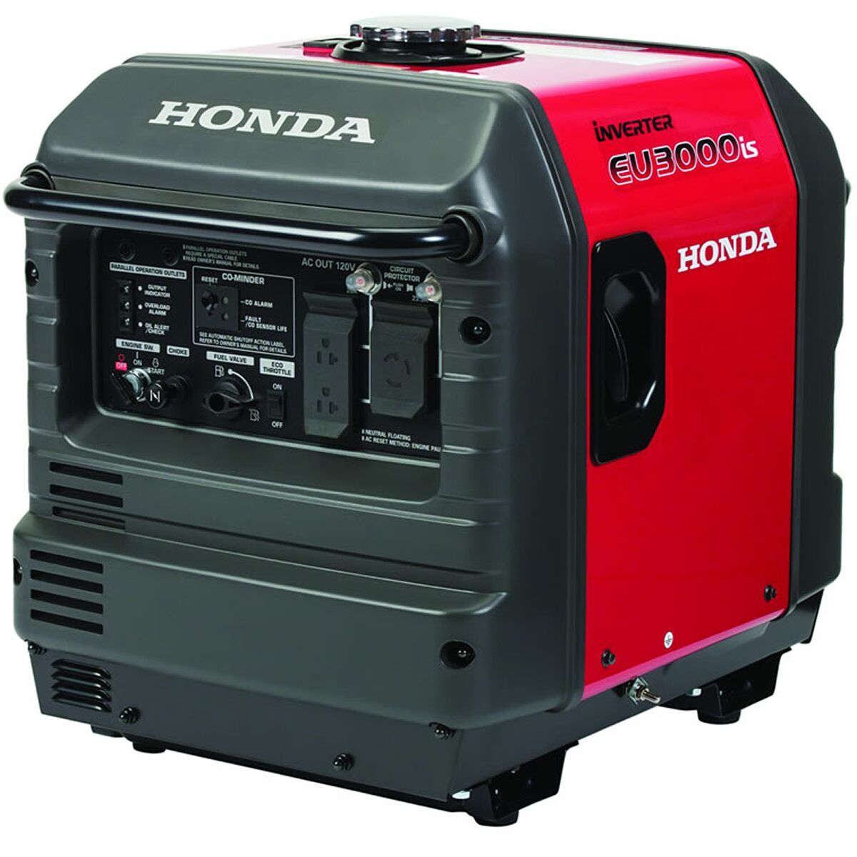 Honda Eu3000isac Eu3000is 2800 Watt Electric Start Portable Inverter Generator W Co Mindera Carb Portable Inverter Generator Gas Powered Generator Honda Generator