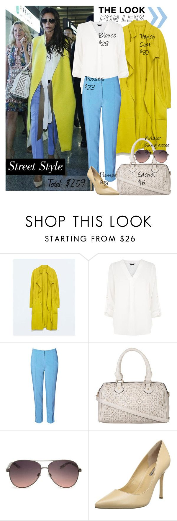 """""""Look for Less: Victoria Beckham"""" by junglover ❤ liked on Polyvore featuring Silver Spoon Attire, Zara, True Decadence, Atmos&Here, MANGO, BCBGeneration and LookForLess"""