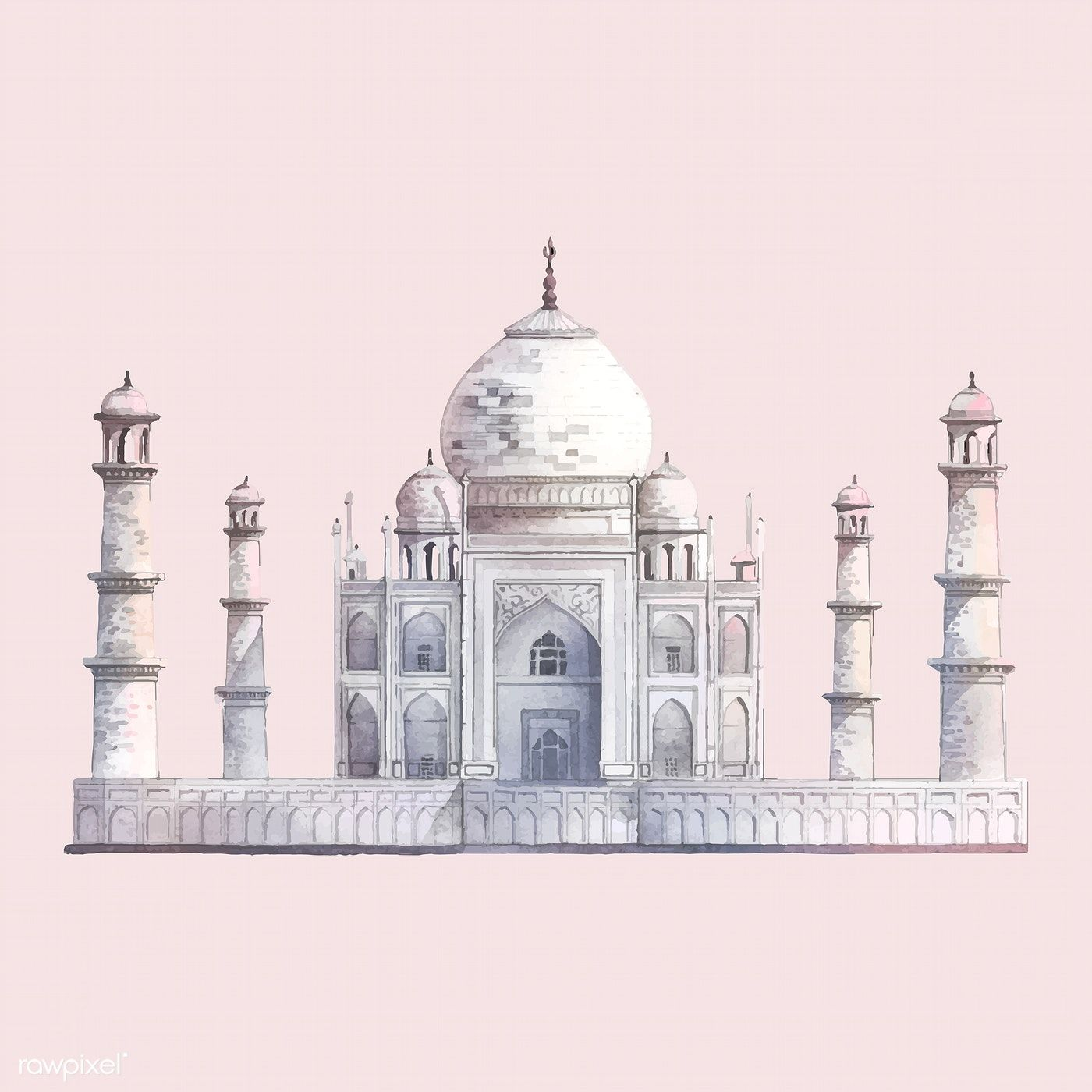 Download Premium Vector Of The Taj Mahal In Agra India