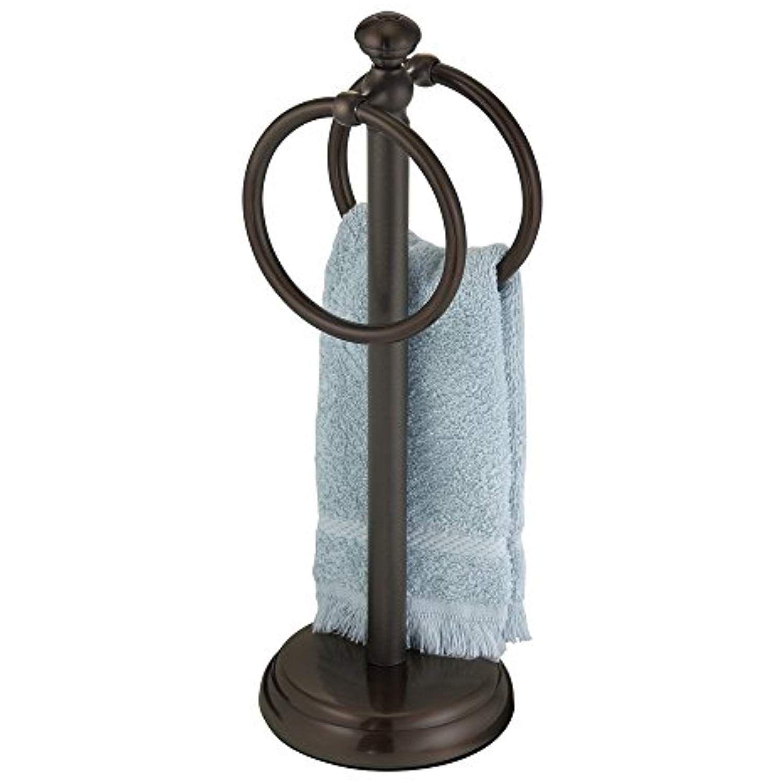 Mdesign Metal Hand Towel Holder For Bathroom Vanities Bronze