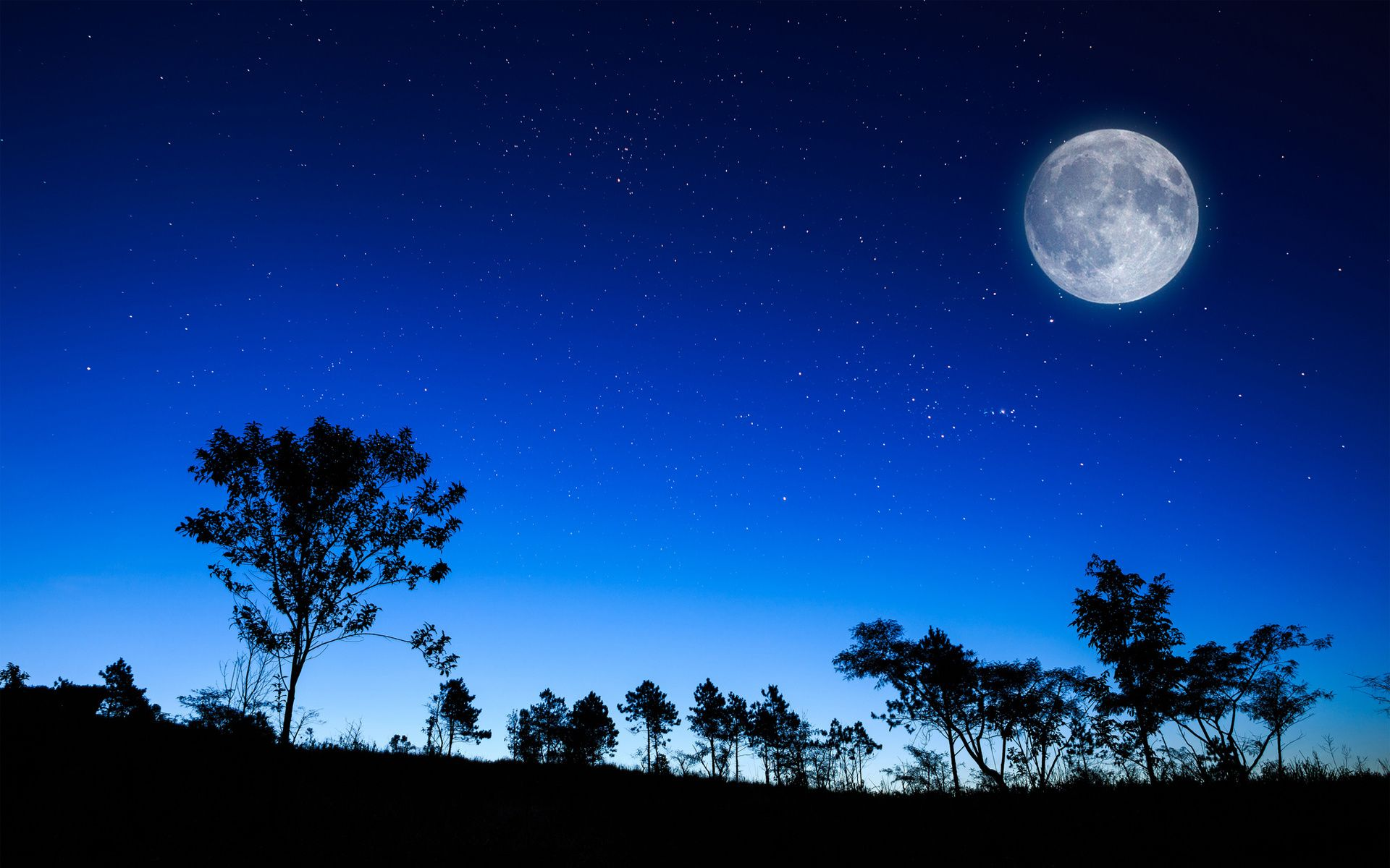 Full Moon Wallpaper Download With Images Moon And Stars