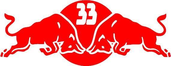 Red bull f1 max verstappen 33 decal van stickersonlinestore op etsy