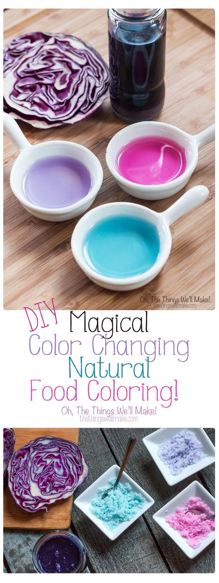 Diy magical color changing food coloring recipe