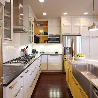 combination of white yellow cabinets with images painting kitchen cabinets kitchen on kitchen interior yellow and white id=14213