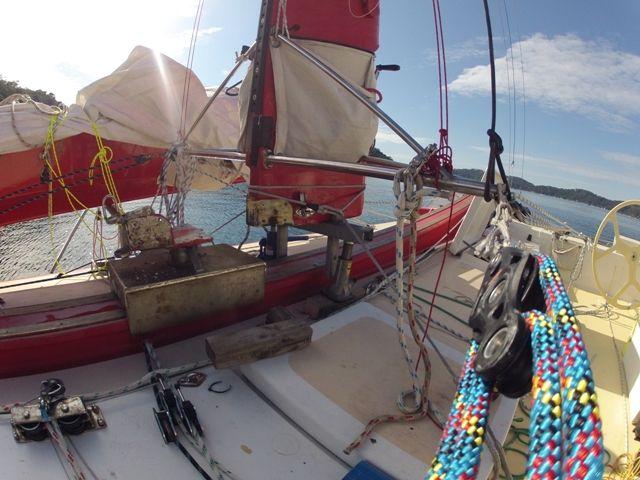 mast on jacks with mast car removed