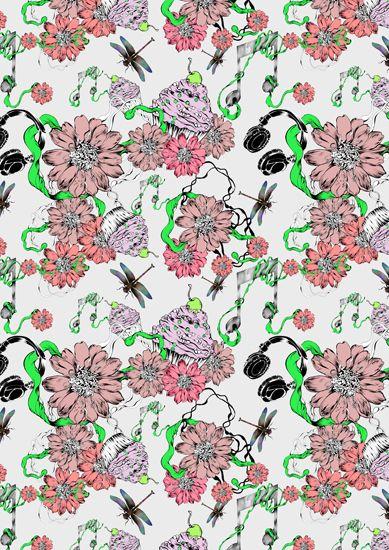 Illustration by Pomme Chan #Advertising #HTCPhones #Illustration #Pattern #Design #PommeChan