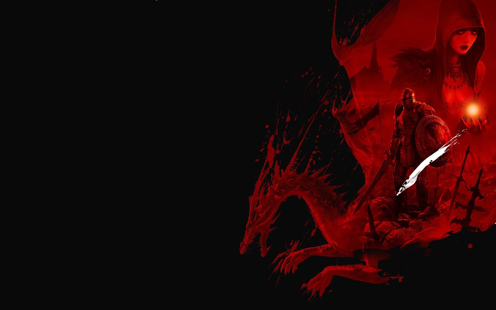 Red Dragon Fantasy Black Hd Wallpaper Red Wallpaper Black Wallpaper
