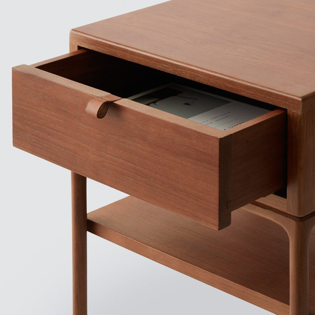 Solid Wood Nightstand Handcrafted Wood Side Tables At The Citizenry Wood Nightstand Teak Nightstand Leather Wood Furniture
