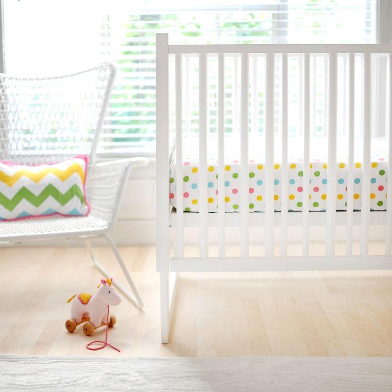 Rainbow Polka Dot Crib Sheet Baby Sheets Cribs Nursery Bedding Sets