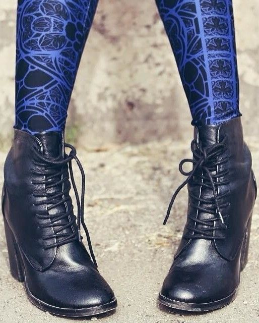 Erin Lace-up Booties and the stockings