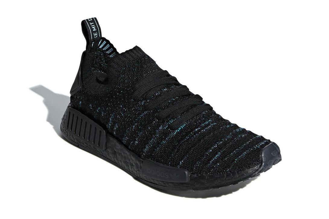 Parley X Adidas Nmd R1 Core Black Blue Spirit Adidas Nmd R1