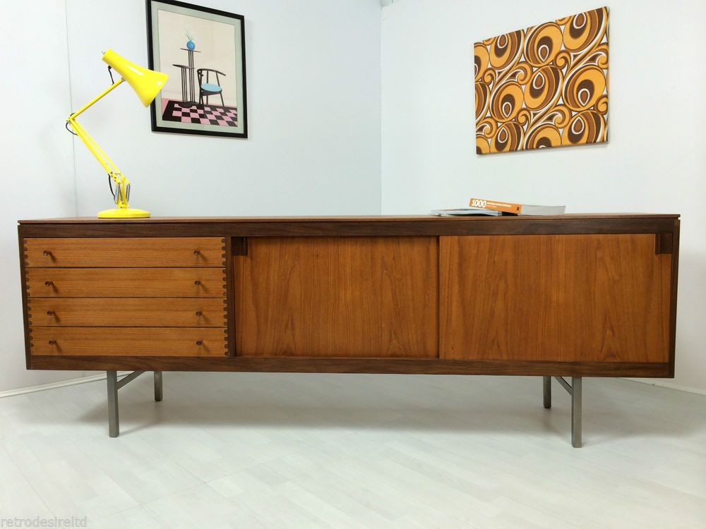 Marvelous Retro Robert Heritage 7ft Teak Sideboard For Archie Shine 70u0027s Industrial  Style | Industrial Style, Archie And Teak