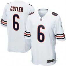 Youth Nike Chicago Bears  6 Jay Cutler Elite White Jersey 79.99 ... 6ace7db6d