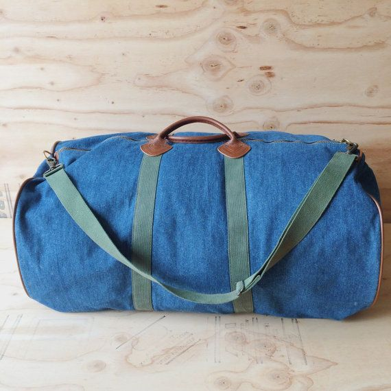 Super Vintage Ll Bean Xl Denim Weekender Duffle Bag With Matching Unemploymentrelief Wooden Chair Designs For Living Room Unemploymentrelieforg