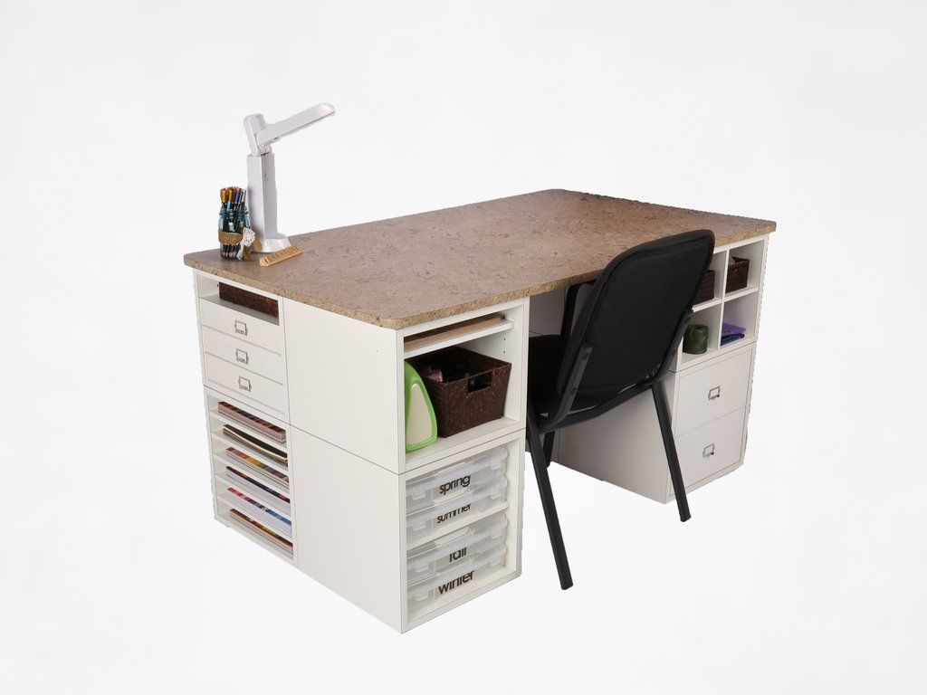 Topdesk for eight cubes scrapbooking table desks and cube