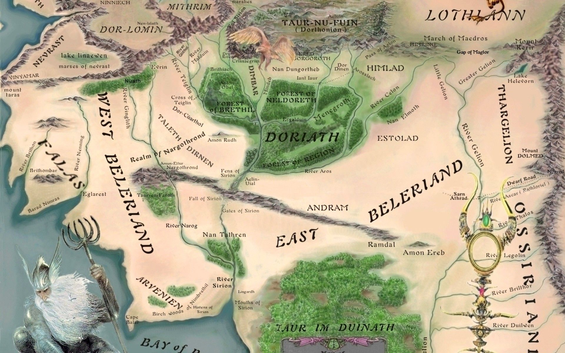 Middle earth map Lord of the Rings and Silmarillion Pinterest