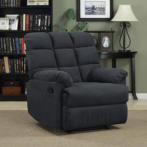 Genial Prolounger Wall Hugger Microfiber Biscuit Back Recliner Gray Living Room  Furniture Comfortable Chair Perfect For Home