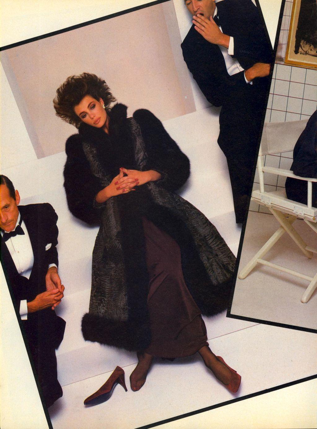 Us Vogue November 1982 Quot Christian Dior Furs Fall Winter