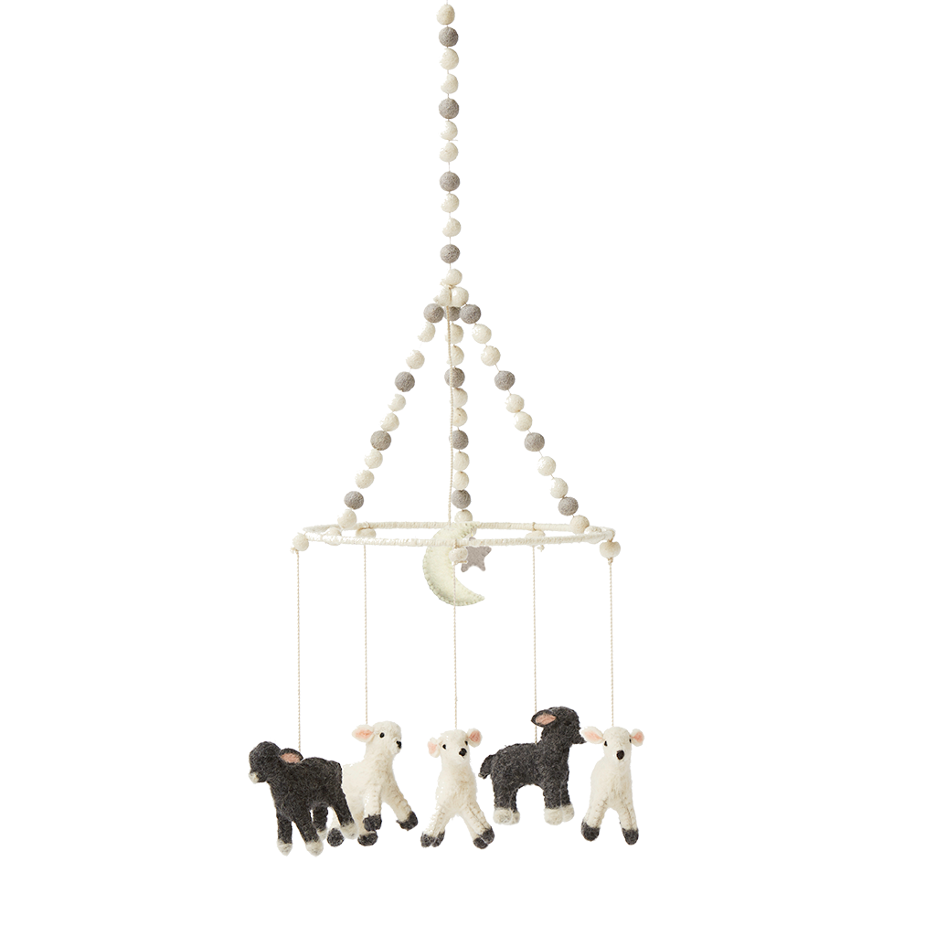 Little Lamb Mobile Baby Nursery Sheep Mobile Baby Baby Boutique