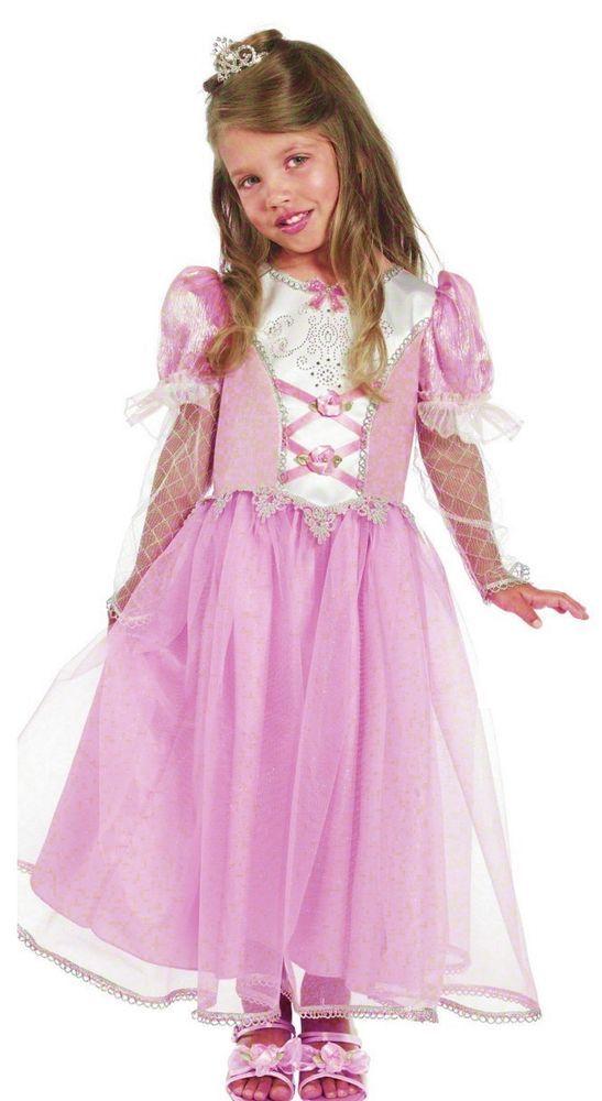 Girls Princess Dress Pink Fairy Tale Princess Fancy Dress Costume 3 ...
