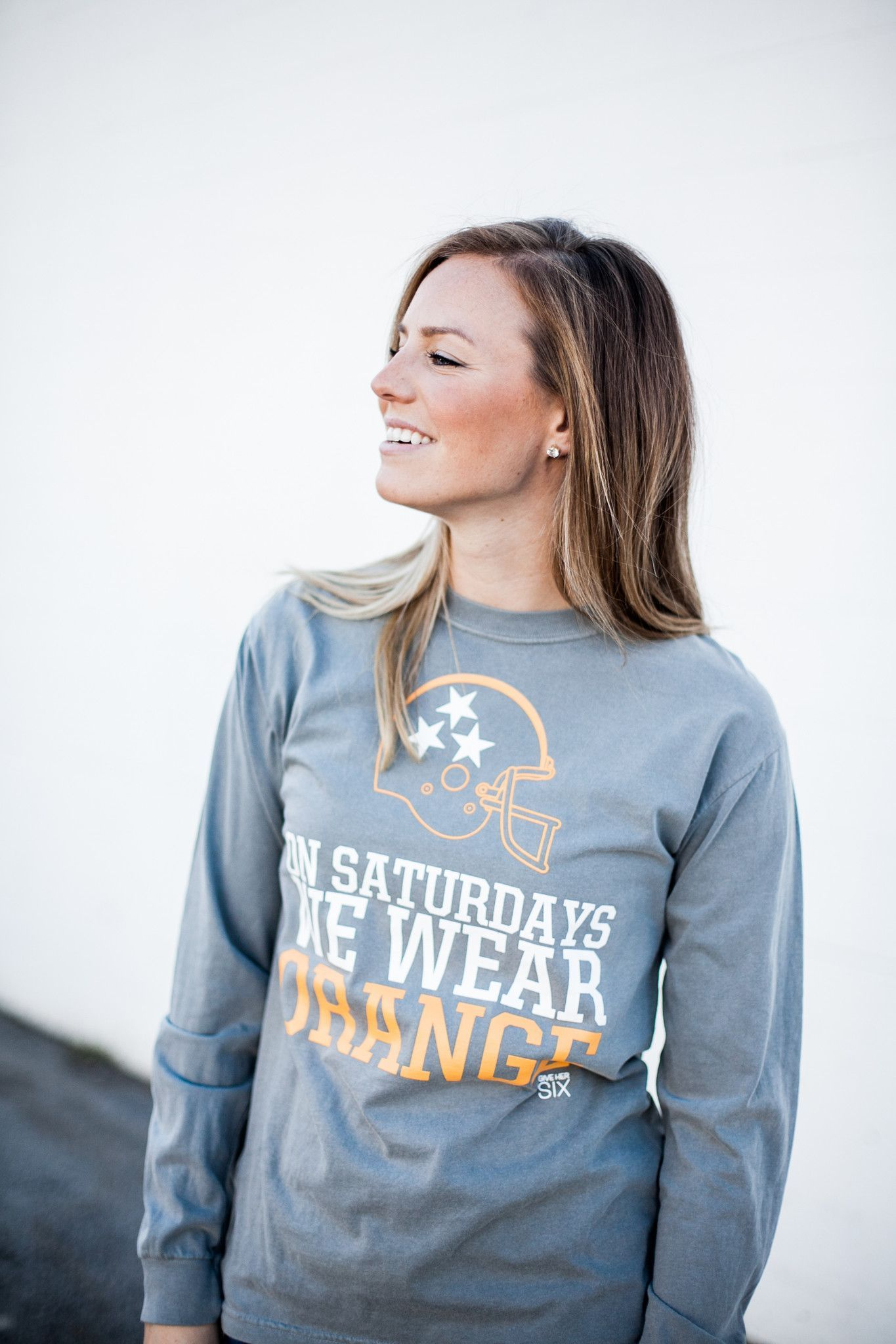On Saturdays We Wear Orange Comfort Colors Gameday Outfit Game Day Shirts College Gameday Outfits [ 2048 x 1365 Pixel ]