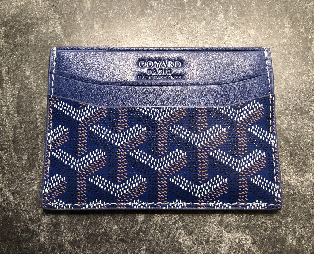 Goyard card holder blue goyard card holder card