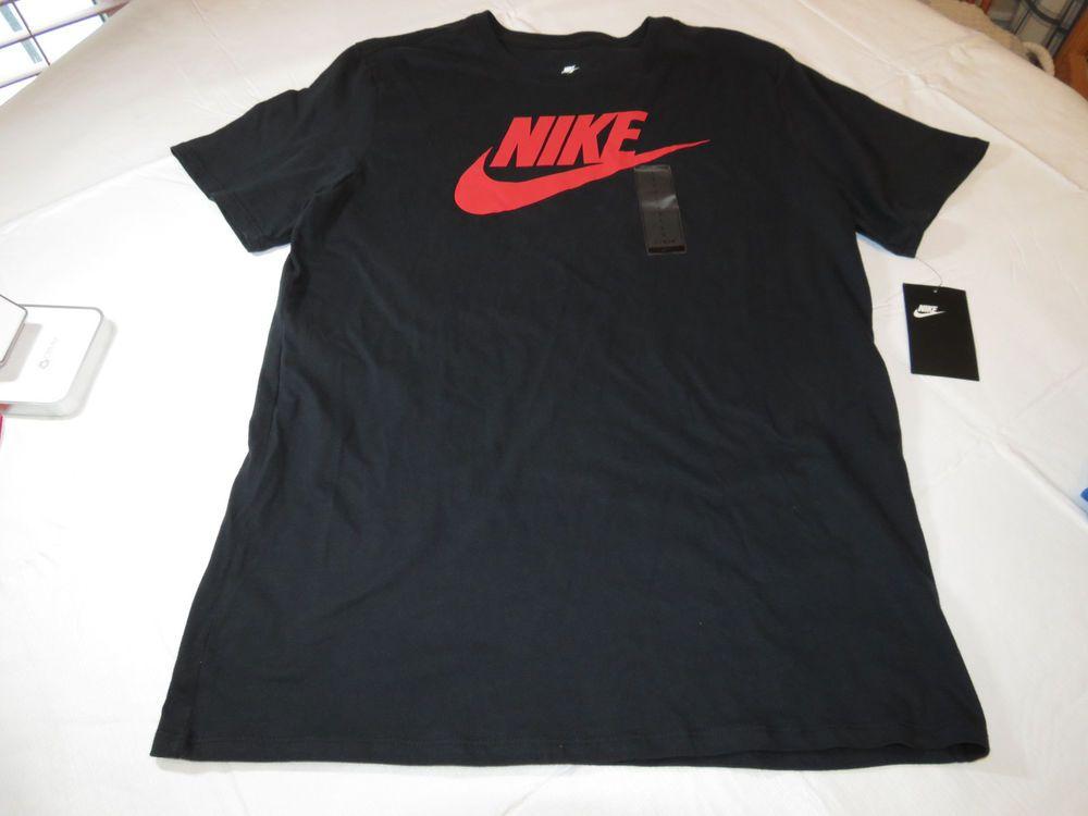 4370873f Nike Mens The Nike Tee Athletic cut L 696707 013 black red training t shirt  #Nike #Tshirt