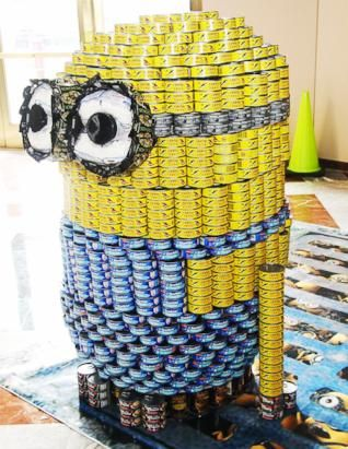 Canstruction Sculptures Made From Cans Of Food Om Inspiration