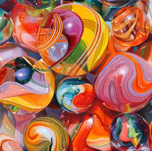 Marbles Are So Colorful Beautiful Could Fill A Vase