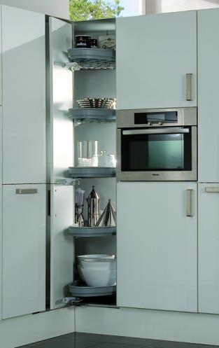 Kitchen Corner Solutions   Planera  Tall Corner Unit Storage
