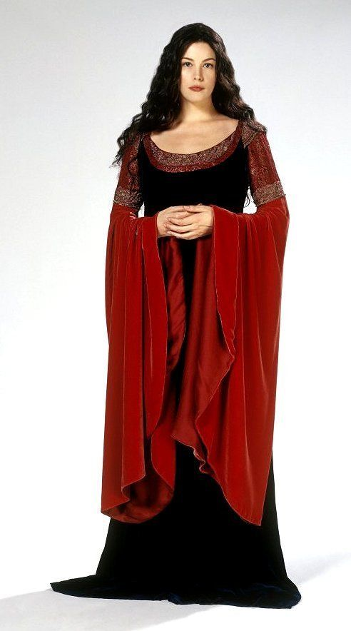 The Lord of the Rings Arwen Blue Dress Cosplay Costume Gown Halloween convention