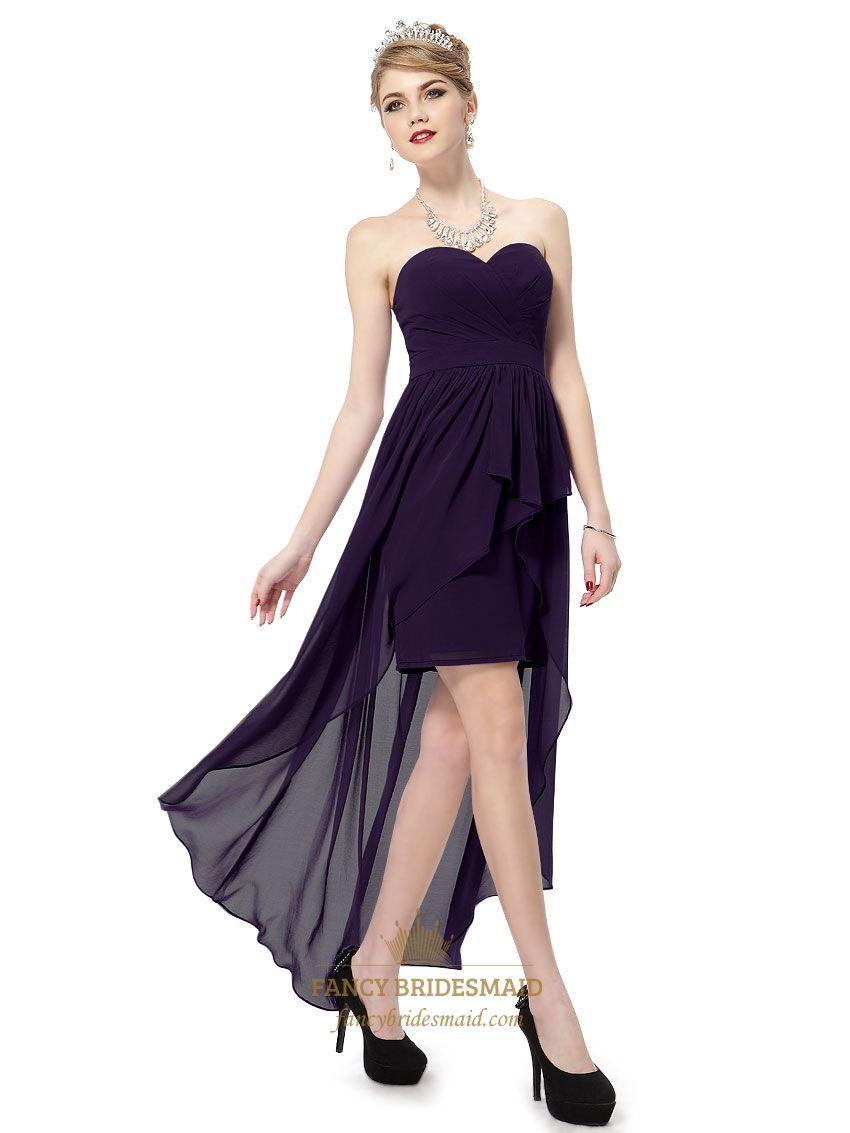 Dark Purple High Low Prom Dress Purple Sweetheart Neckline Prom Dress Long Sweetheart Neckline Prom Dresses Short Wedding Dress Red Prom Dress Long [ 1133 x 850 Pixel ]