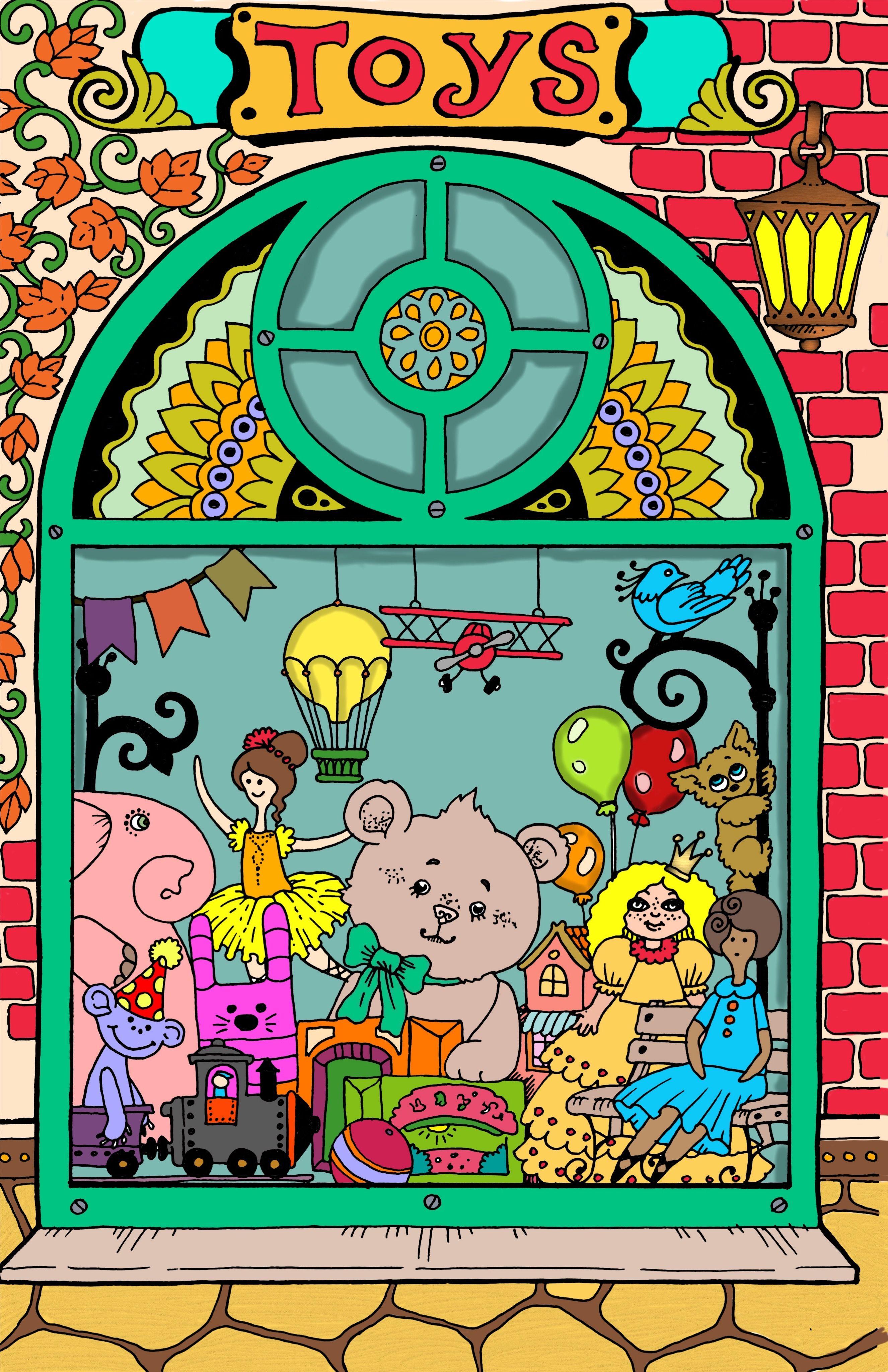 Art By Tatiana Stolova Bogema Book Nice Little Town Digitally Colored Using Pigment App On Ipad Pro Art Coloring Book Pages Coloring Books