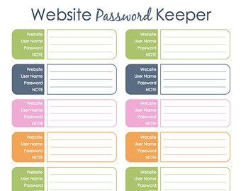 Password Keeper | 4K Activities and Ideas | Pinterest | Password ...
