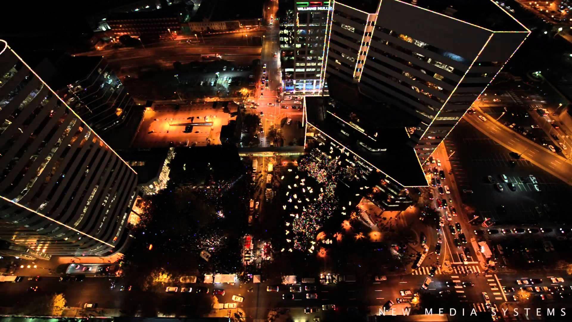 Grand illumination 2012 james center richmond virginia