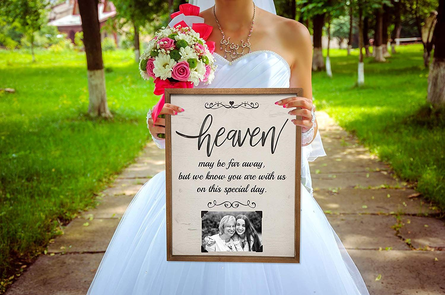 Poster Vintage Chic Father Of The Bride Aisle Personalised Wedding Sign