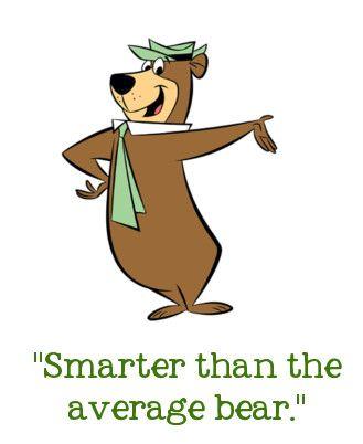 Smarter Than The Average Bear Yogi Google Search Hanna Barbera Characters Yogi Bear Bear Cartoon