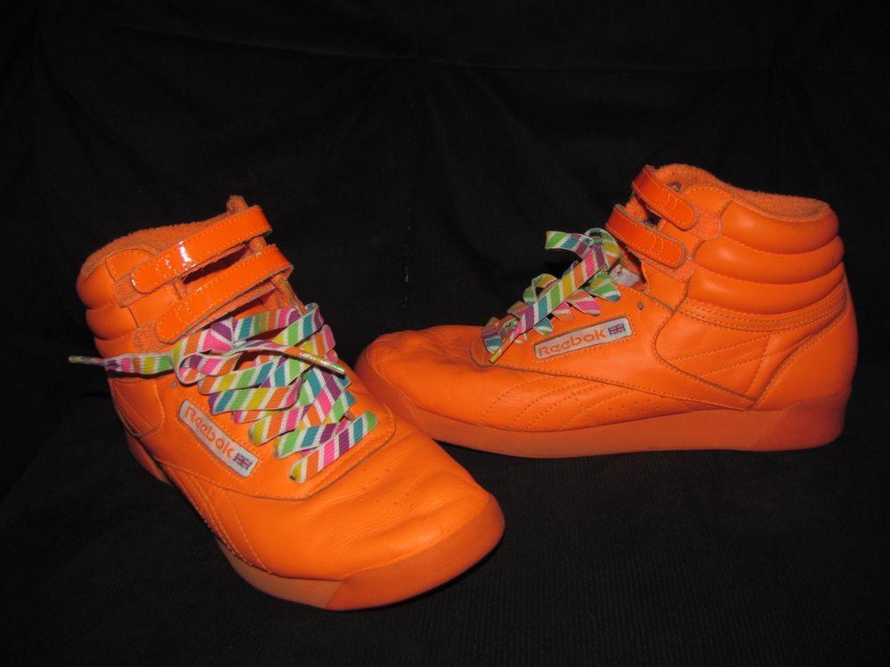 Reebok Freestyle 8 Anniversary Orange High Size Top Neon 25th rFvZqwOpr