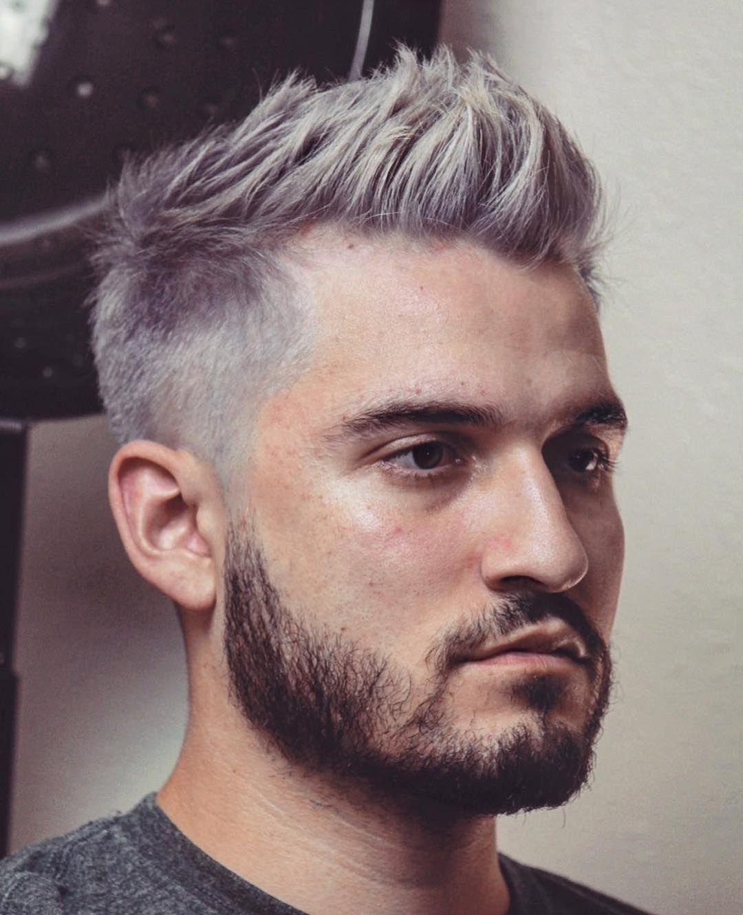 Best Short Men Haircut Looks Grey 02 Dressip Com Grey Hair Men Mens Haircuts Short Men Hair Color
