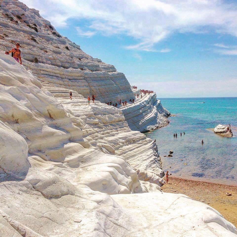 Sandy Beach: Sicily, Italy Climb The Scala Dei Turchi Translates To