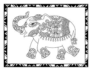 free printable elephant coloring page available from cjo photo  elephant coloring page