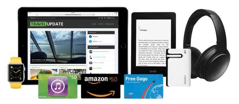 TravelUpdate Win an Apple Watch Sport, iPad Air 2, Bose
