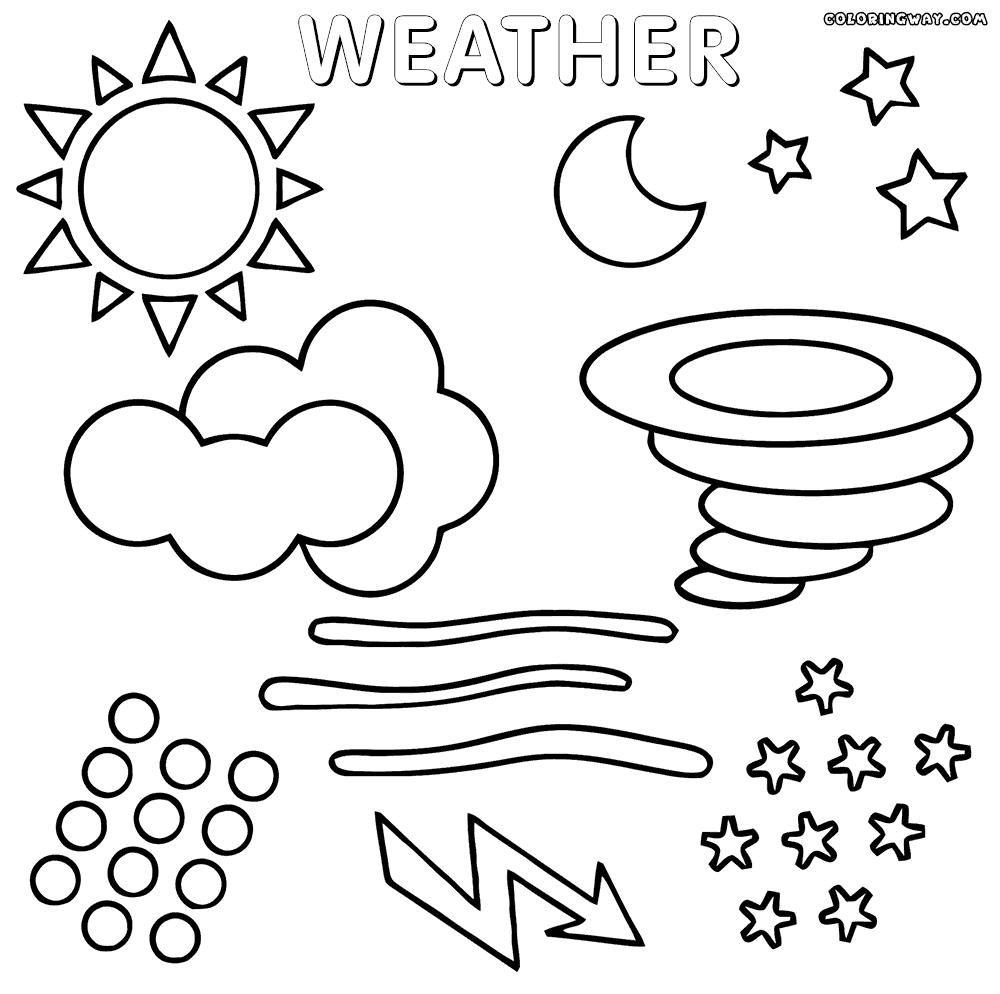 8 Preschool Coloring Pages Preschool Coloring Pages Preschool Weather Weather Theme
