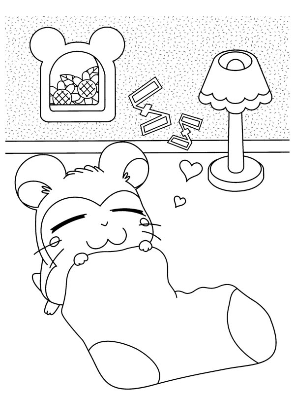 Hamtaro Sleeping In His Room Coloring Pages Bulk Color Coloring Pages Hamtaro Online Coloring