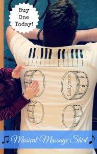 musical massagem dia dos pais camisa DIY ou comprar!  Tutorial e para a venda de Lalymom