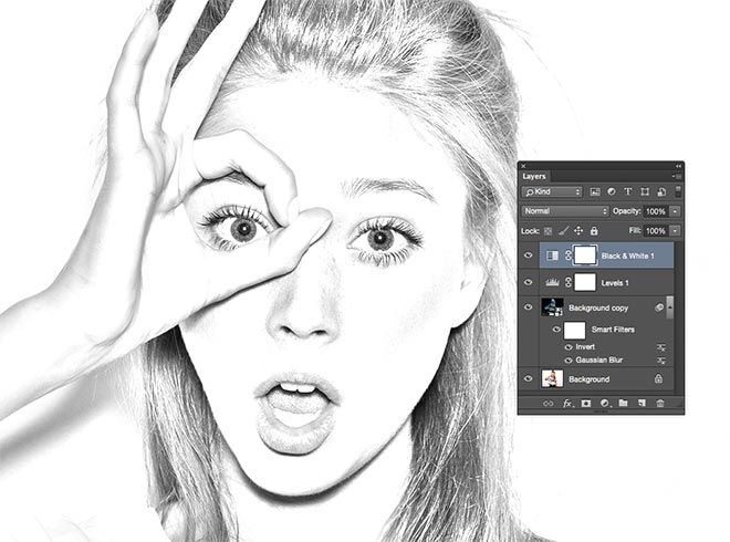 How to create a realistic pencil sketch effect in photoshop