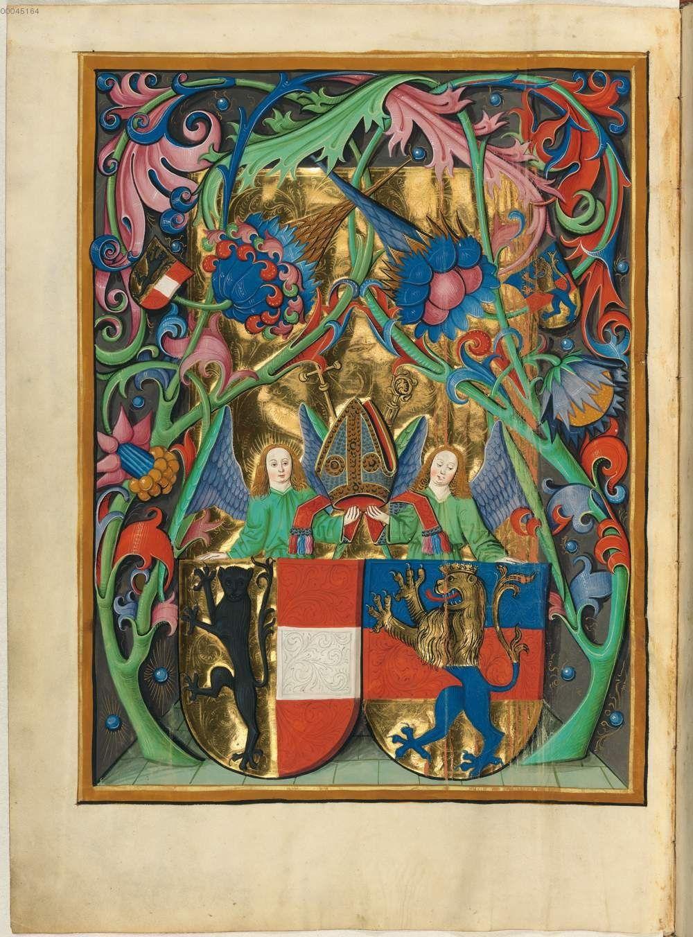 Missale quinque tomis constans, qui omnes multis (plus centum) et nitidissimis picturis ornati sunt. Salzburger Missale -  Berthold Furtmeyr Clm 15708 nach 1482 Folio