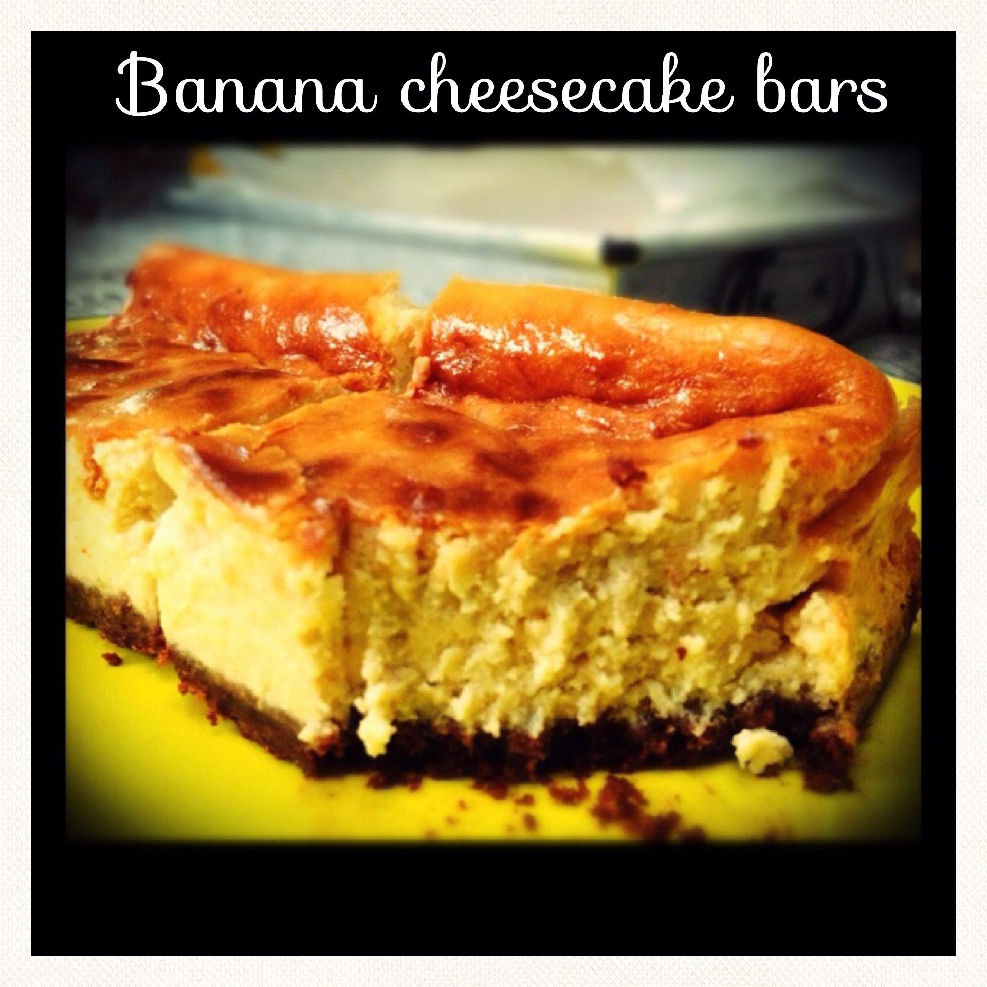 Banana cheesecake bars