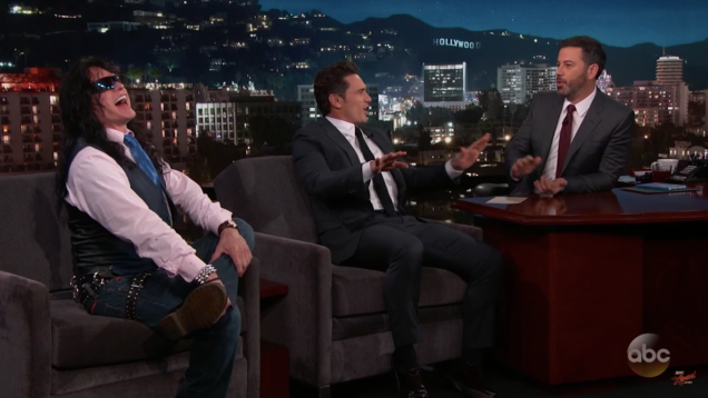 """James Franco and Tommy Wiseau said, """"Oh, hai,"""" to Jimmy"""